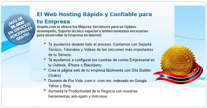 Alojate.com Web Hosting